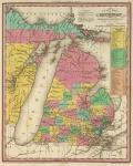 1836 Michigan Map